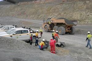 Aktivitas tambang Batu Hijau