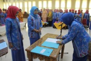 pelantikan pengurus GOW Kabupaten Sumbawa