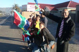 Ebrahiem Manuel dan keluarga di Afrika Selatan