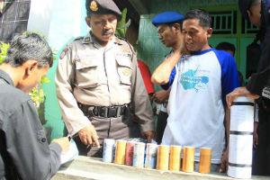 Polisi amankan pelaku petasan