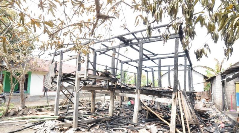 Rumah korban ludes dilalap api
