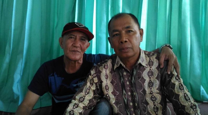 Didin Maninggara (pakai topi) dan Heri Suparman