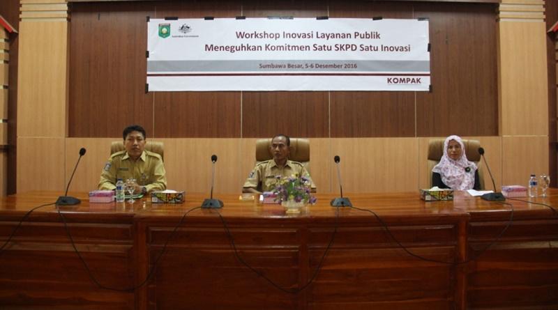 Workshop inovasi pelayanan publik