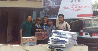 Wartawan Sumbawa Kembali Bantu Korban Gempa Lombok