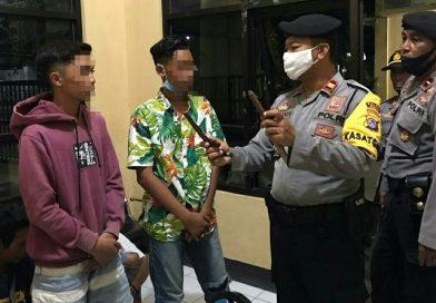 Patroli di Taman kota Sumbawa Besar, Polisi Amankan Sajam dan Miras