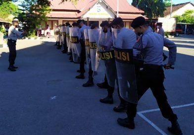 Jelang Pilkada, Polres Sumbawa Gelar Latihan Pengendalian Massa
