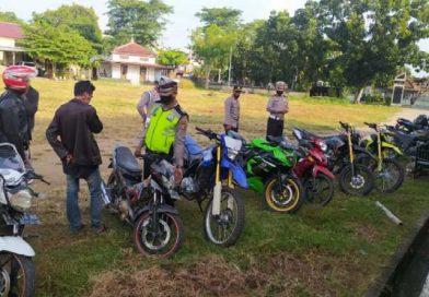 Kapok, 7 Motor Berknalpot Racing 'Kampungan' Diamankan Polsek Alas