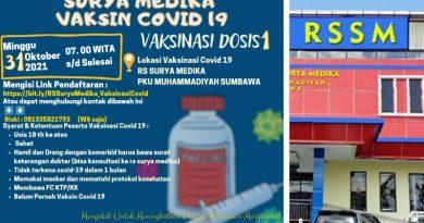 RS Surya Medika PKU Muhammadiyah Sumbawa Akan Gelar Vaksinasi